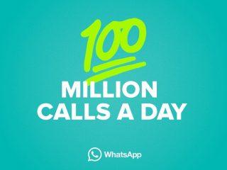 WhatsApp enregistre 100 Millions d'appels téléphoniques par jour